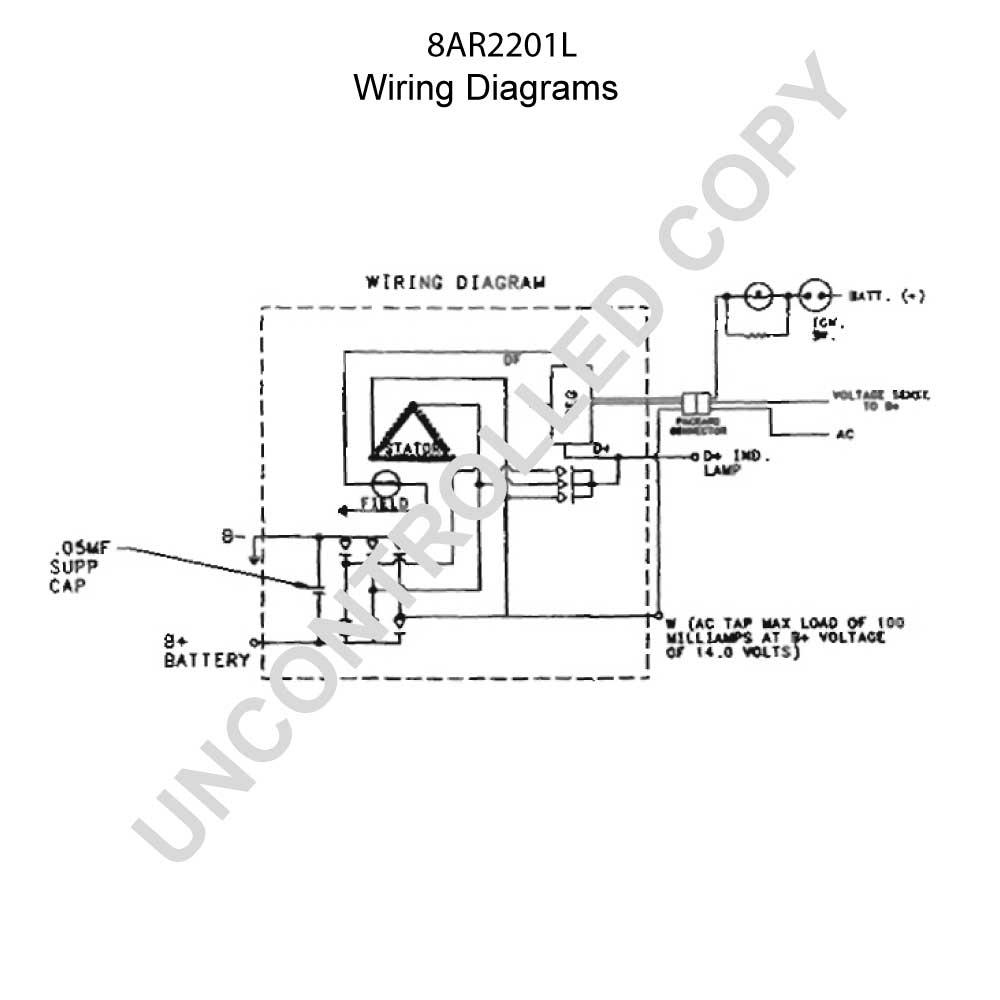 8ar2201l Prestolite Leece Neville Alternator 12v 65 Amp Batteryless Wiring Diagram 110 461
