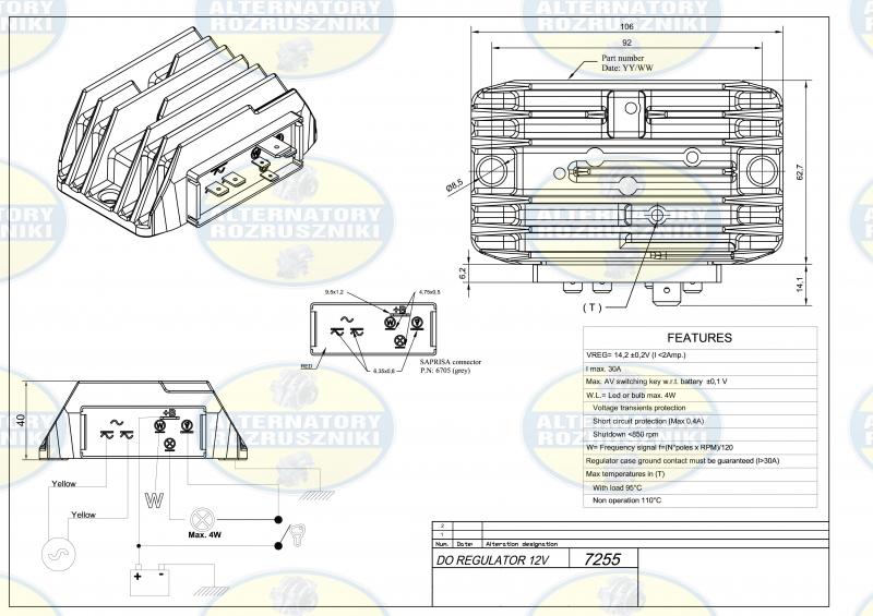 ref7255 saprisa regulator napi cia lombardini 12v rh osinskiartur pl Lombardini Diesel lombardini wiring diagram